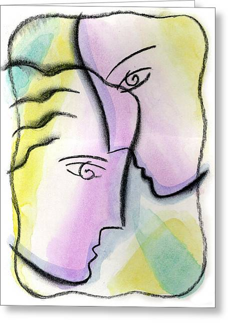 Man And Woman Greeting Cards - Love Greeting Card by Leon Zernitsky