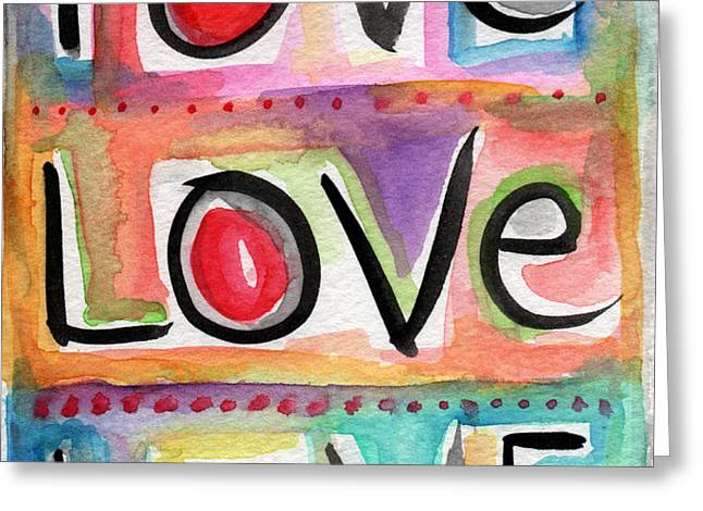 Love Greeting Card by Linda Woods