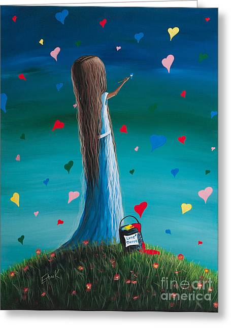Girl Greeting Cards - Love Therapy by Shawna Erback Greeting Card by Shawna Erback