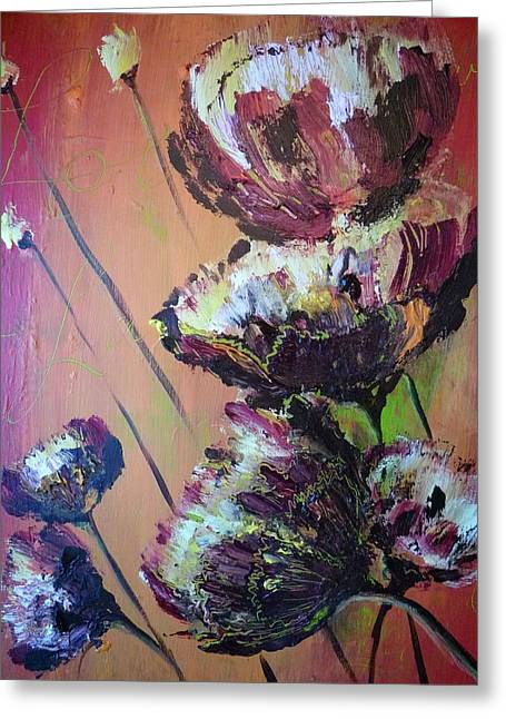 Sunlight On Flowers Greeting Cards - Love Unfinished Greeting Card by Dawn Derringer