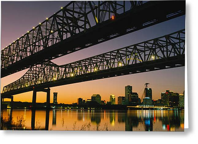 Mississippi River Scene Greeting Cards - Low Angle View Of A Bridge Greeting Card by Panoramic Images