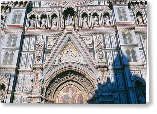 Duomo Greeting Cards - Low Angle View Of A Cathedral, Duomo Greeting Card by Panoramic Images