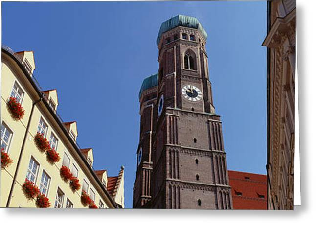 Frauenkirche Greeting Cards - Low Angle View Of A Cathedral Greeting Card by Panoramic Images