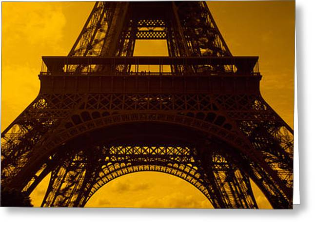 Victorian Style Greeting Cards - Low Angle View Of A Tower, Eiffel Greeting Card by Panoramic Images