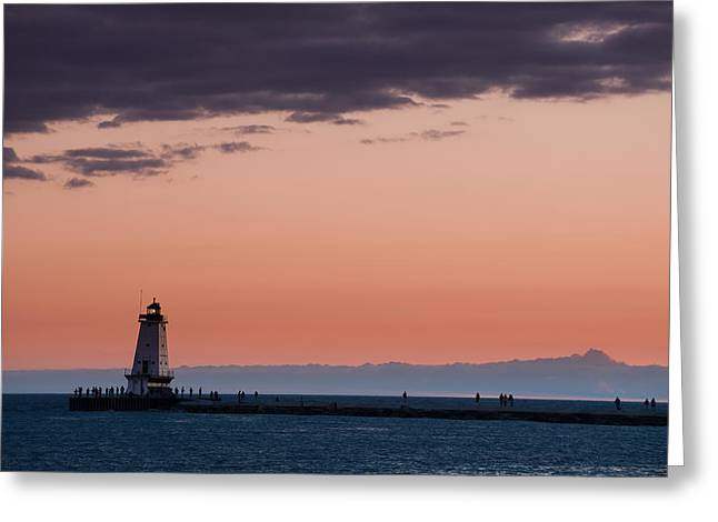 Sailing Greeting Cards - Ludington North Breakwater Lighthouse Greeting Card by Sebastian Musial
