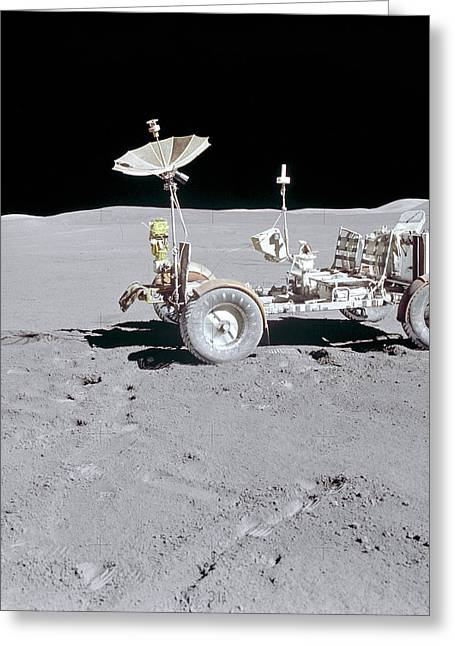 Roving Greeting Cards - Lunar Roving Vehicle Greeting Card by Nasa