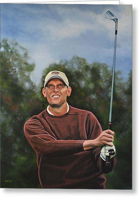 Professional Golf Greeting Cards - Maarten Lafeber  Greeting Card by Paul  Meijering