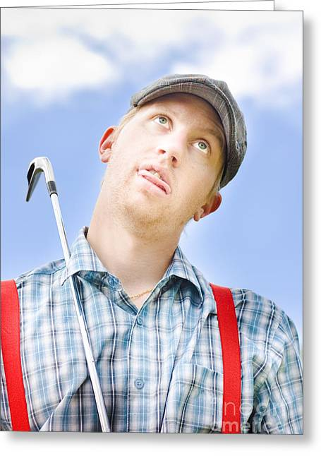 Suspenders Greeting Cards - Mad About Golf Greeting Card by Ryan Jorgensen