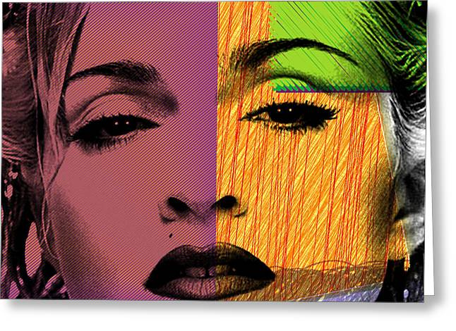 Hollywood Legend Greeting Cards - Madonna  Greeting Card by Mark Ashkenazi