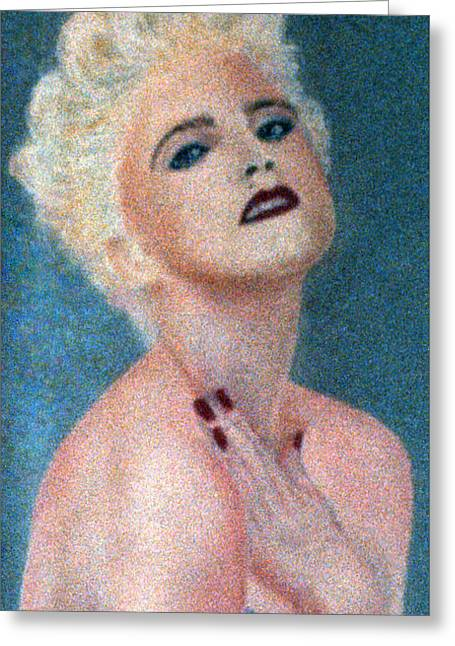 Pop Singer Pastels Greeting Cards - Madonna The Early Years Greeting Card by Bill Holkham