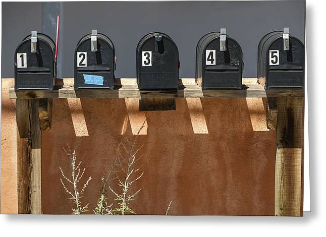 Mailboxes Santa Fe Nm Greeting Card by David Litschel