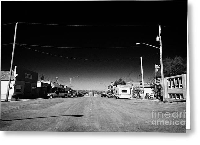 Main Street Greeting Cards - main street hafford Saskatchewan Canada Greeting Card by Joe Fox