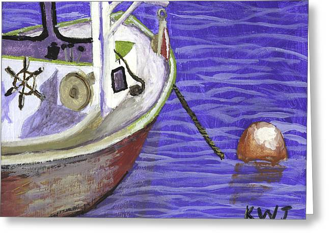 Downeast Greeting Cards - Maine Lobster Boat Greeting Card by Keith Webber Jr