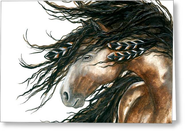 Majestic Horse Series 80 Greeting Card by AmyLyn Bihrle