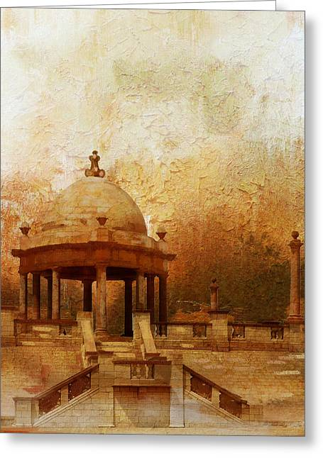 Akbar Shahjahan Greeting Cards - Makli Hill Greeting Card by Catf