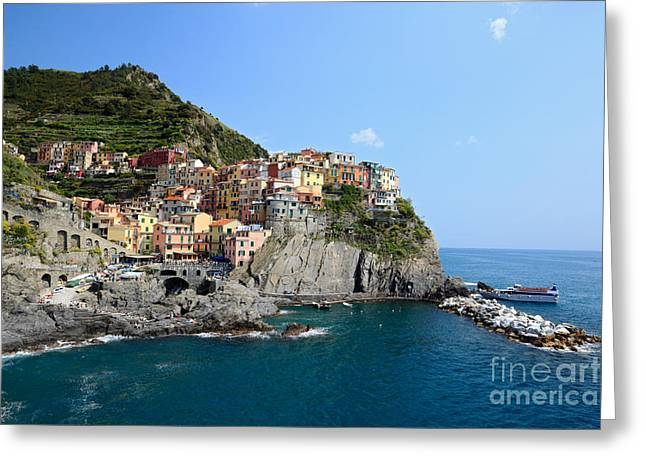 North Italian Town Greeting Cards - Manarola in the Cinque Terre - Italy Greeting Card by Matteo Colombo