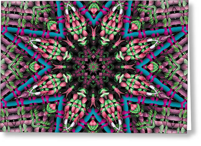 Texture Art Greeting Cards - Mandala 31 Greeting Card by Terry Reynoldson