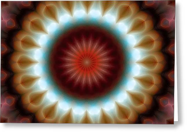 Divine Greeting Cards - Mandala 83 Greeting Card by Terry Reynoldson
