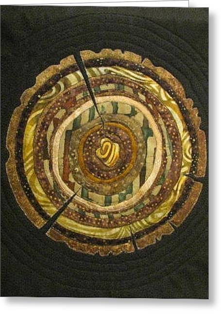 Mandala No 3 Tree Rings Greeting Card by Lynda K Boardman