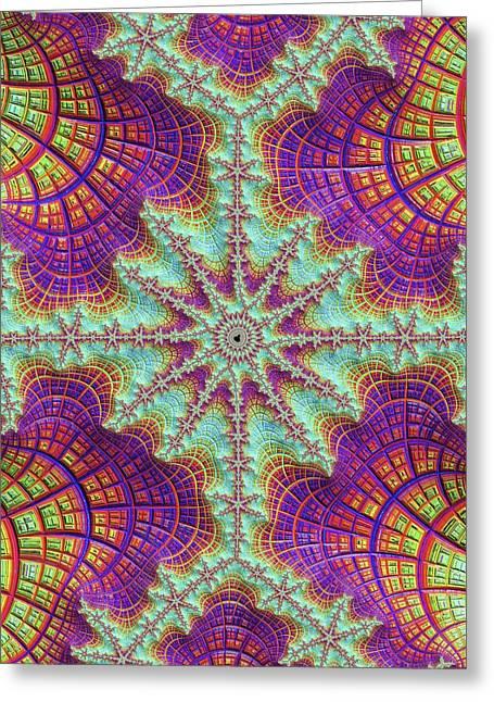 Mandelbrot Fractal Greeting Card by Alfred Pasieka