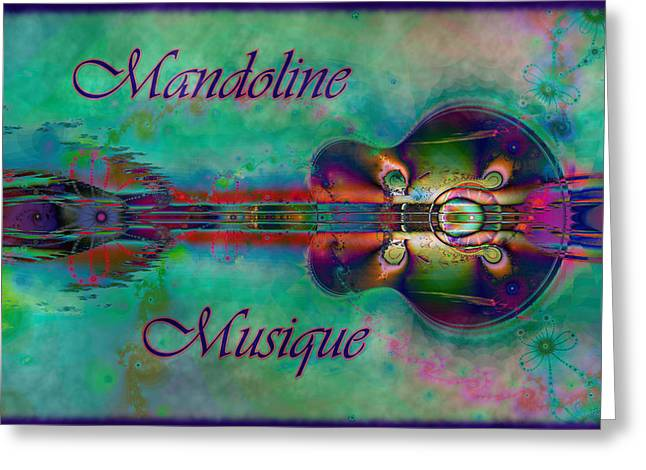 Gypsy Band Greeting Cards - Mandoline Musique Greeting Card by Kiki Art