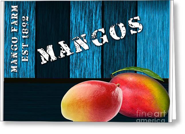 Mango Farm Sign Greeting Card by Marvin Blaine