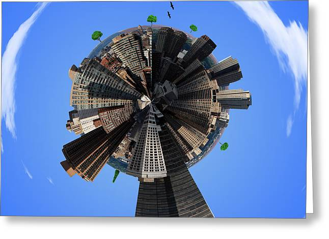 Times Square Digital Greeting Cards - Manhattan Greeting Card by Mark Ashkenazi