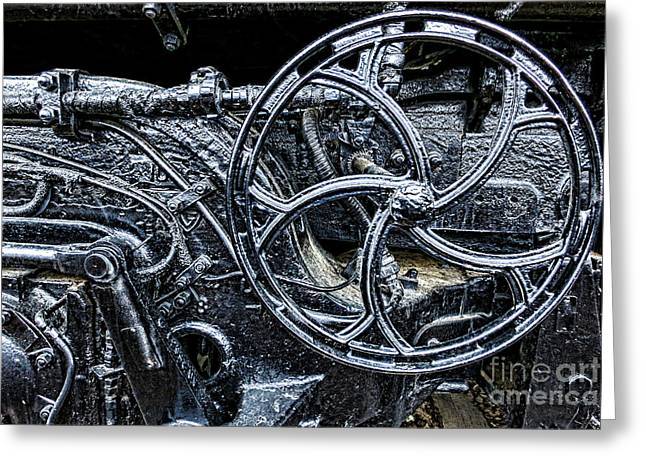 Locomotive Wheels Greeting Cards - Manifold Greeting Card by Olivier Le Queinec