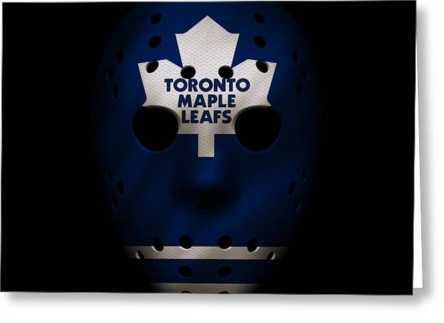 Maple Leafs Captain Greeting Cards - Maple Leafs Jersey Mask Greeting Card by Joe Hamilton