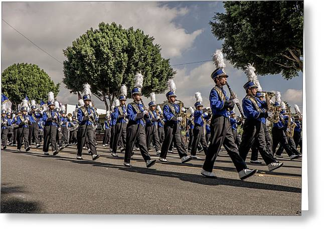 Marching Band Greeting Cards - Marching Band Greeting Card by Shukis Lockwood