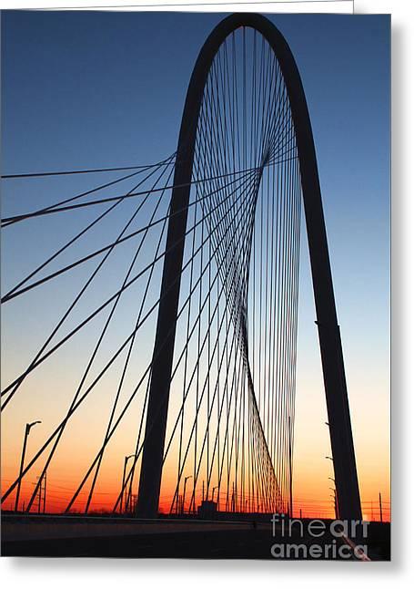 Margaret Hunt Hill Bridge Greeting Card by Elena Nosyreva