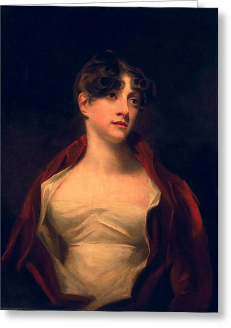White Dress Greeting Cards - Margaret Moncrieff Greeting Card by Sir Henry Raeburn