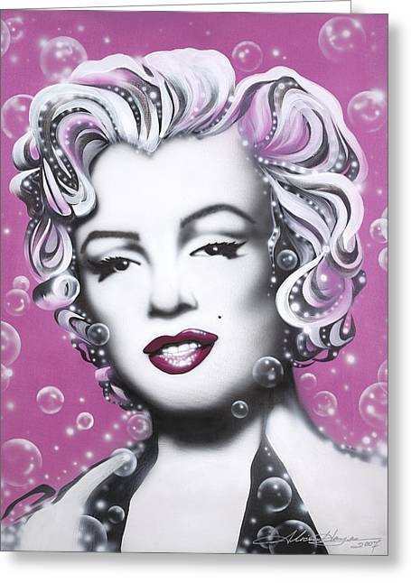 Leading Lady Greeting Cards - Marilyn Monroe Greeting Card by Alicia Hayes