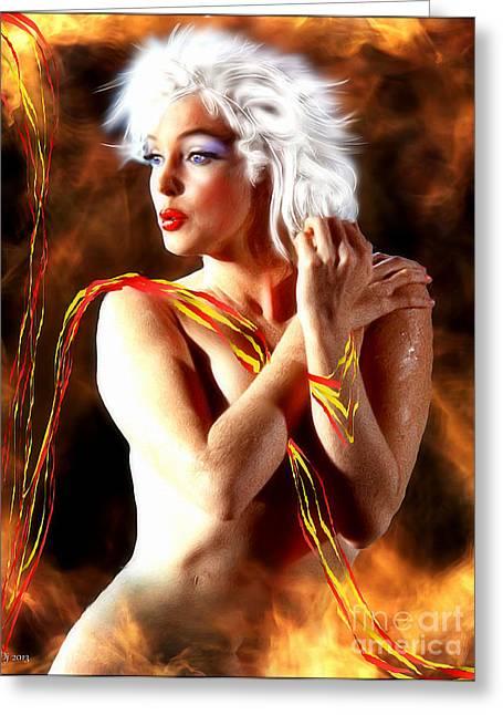 Nude Monroe Greeting Cards - Marilyn Monroe Greeting Card by Daniel Janda