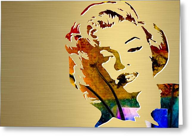 Marilyn Greeting Cards - Marilyn Monroe Gold Series Greeting Card by Marvin Blaine