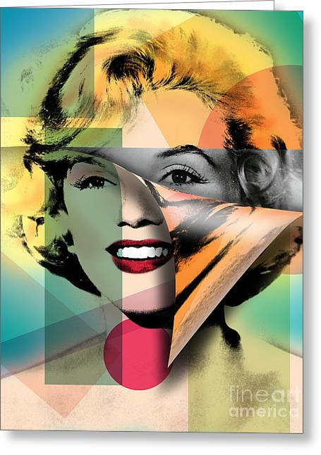 Modern Digital Art Digital Art Greeting Cards - Marilyn Monroe Greeting Card by Mark Ashkenazi