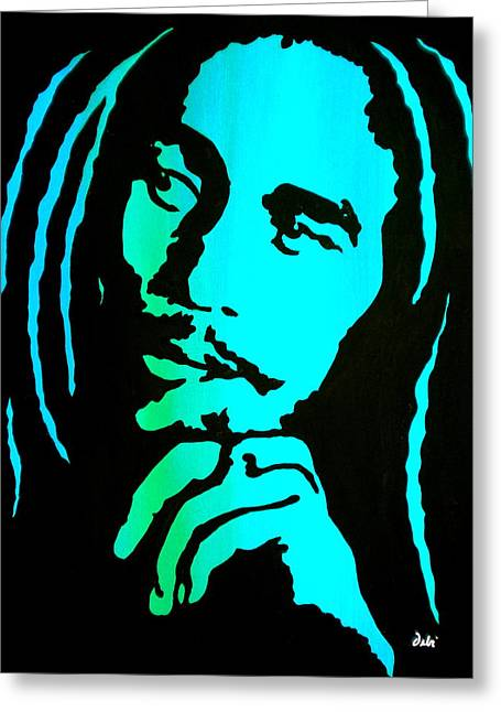 Session Musician Greeting Cards - Marley Greeting Card by Debi Starr