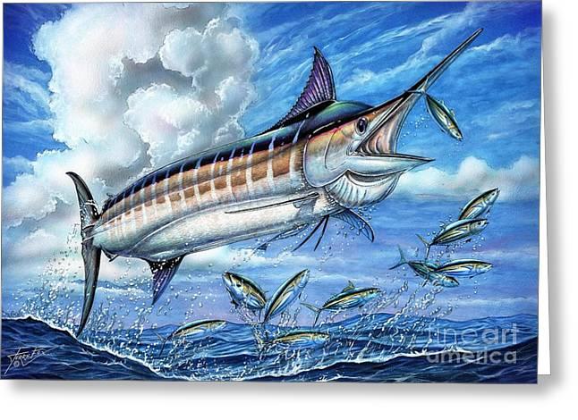 Marlin Azul Greeting Cards - Marlin Queen Greeting Card by Terry Fox