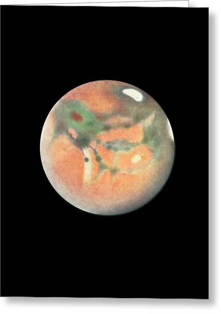 Mars Greeting Card by Detlev Van Ravenswaay