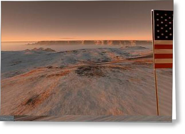 Astrogeology Greeting Cards - Mars exploration, artwork Greeting Card by Science Photo Library