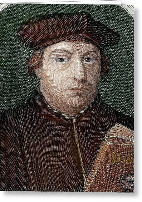 Martin Luther (eisleben, 1483 Greeting Card by Prisma Archivo
