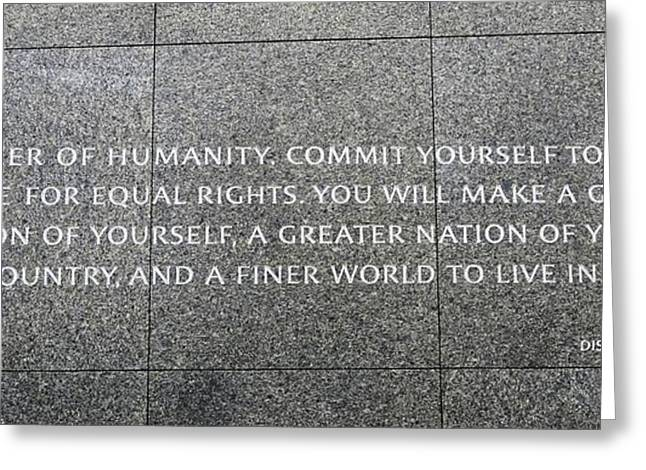 Historic Statue Greeting Cards - Martin Luther King Jr Memorial Greeting Card by Allen Beatty