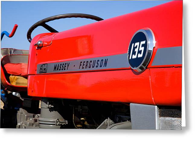 Paul Lilley Greeting Cards - Massey Ferguson 135 vintage tractor Greeting Card by Paul Lilley