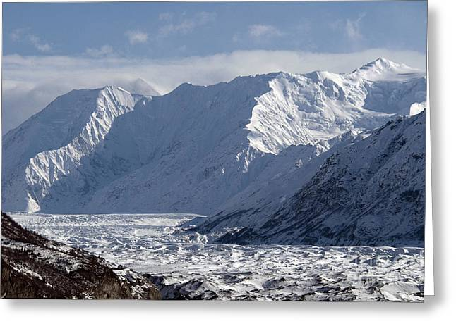 Matanuska Greeting Cards - Matanuska Glacier Greeting Card by Mark Newman