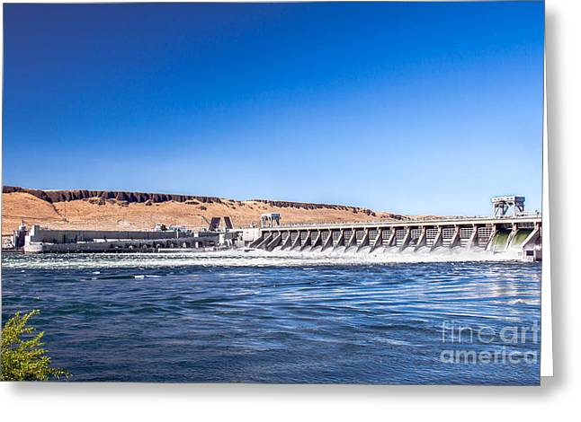 Spillways Greeting Cards - McNary Dam Greeting Card by Robert Bales