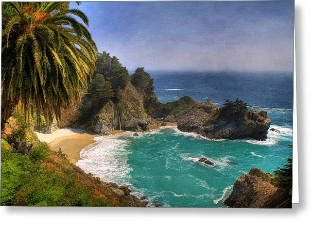Big Sur California Greeting Cards - McWay Falls Greeting Card by Donna Kennedy