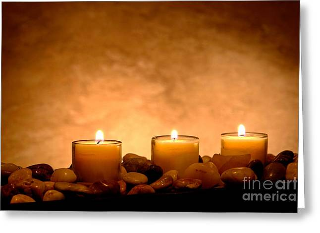 Candles Greeting Cards - Meditation Candles Greeting Card by Olivier Le Queinec