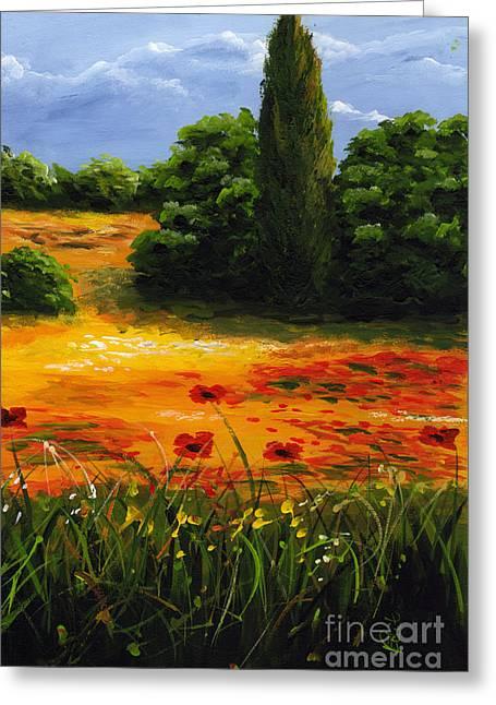 Mediterranean Landscape Greeting Card by Edit Voros