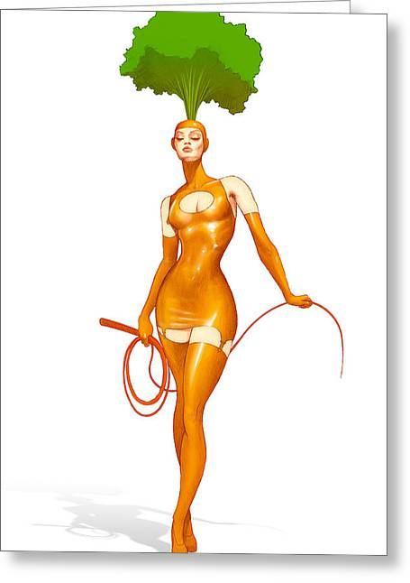 Sustainable Gardening Greeting Cards - Meet CARRIE the CARROT Greeting Card by YNFWB Your new friends with BENEFITS