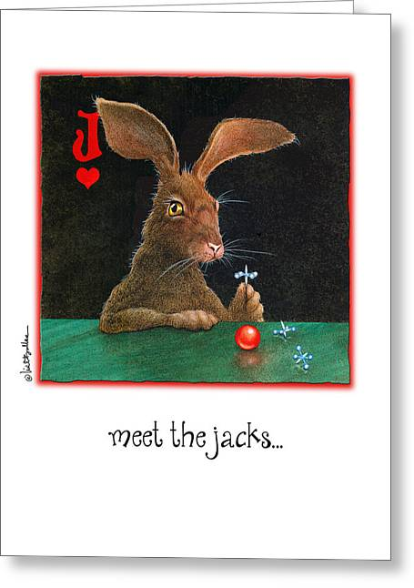 Jack Rabbit Greeting Cards - Meet The Jacks... Greeting Card by Will Bullas
